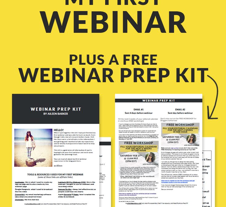 Exactly How I Planned My First Webinar (plus a FREE Webinar Prep Kit)