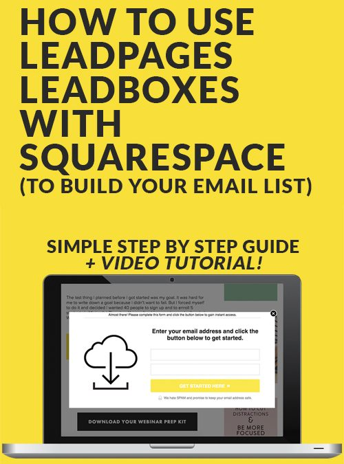 How to Use Leadpage Leadboxes with Squarespace [VIDEO]