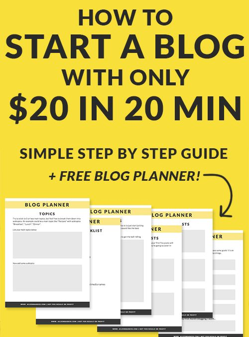 How to Start a Blog for $20 in 20 minutes